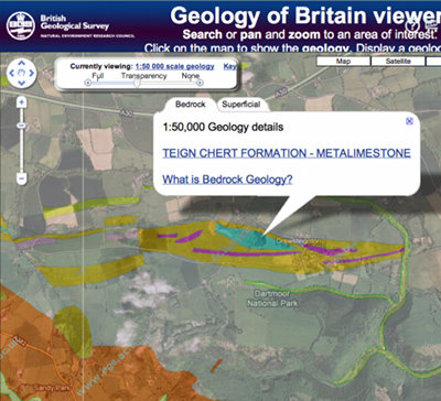 Geology of Drewsteignton Quarries