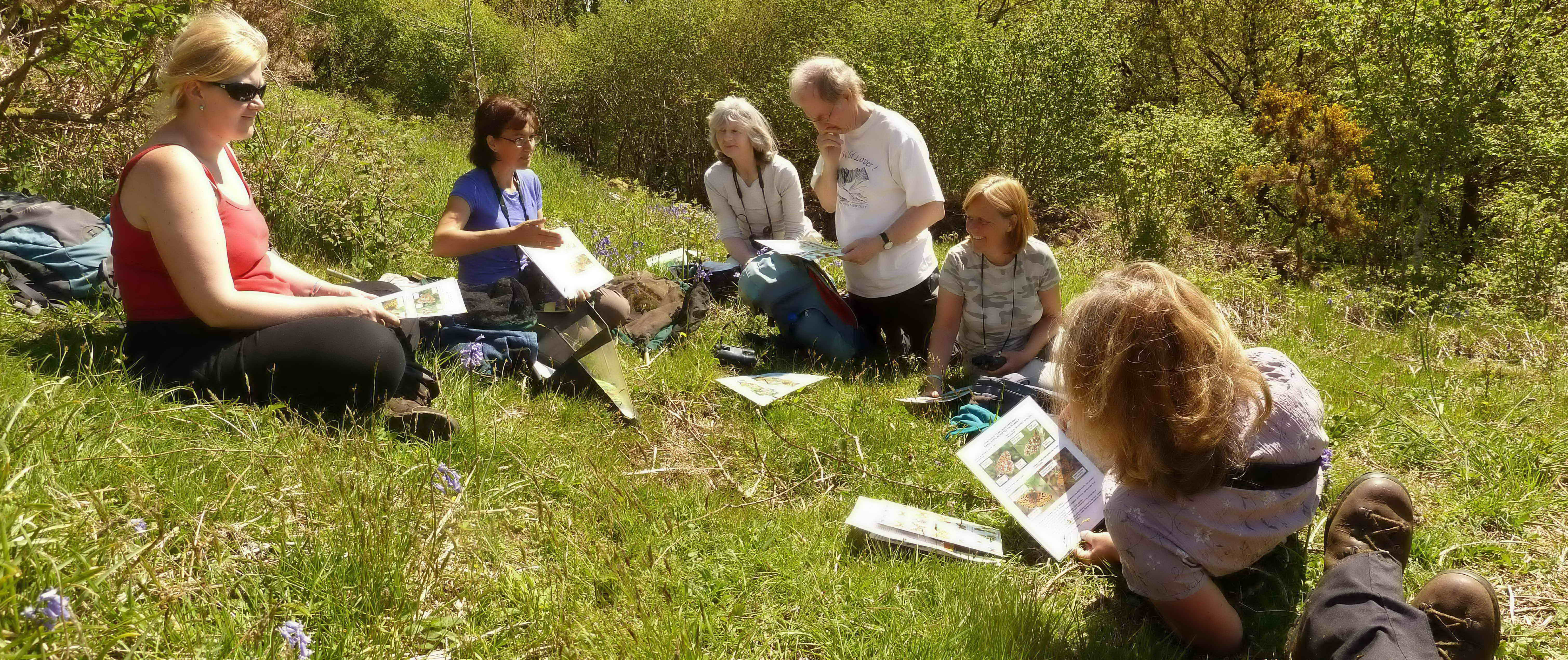 Volunteers on the Common Wood site.