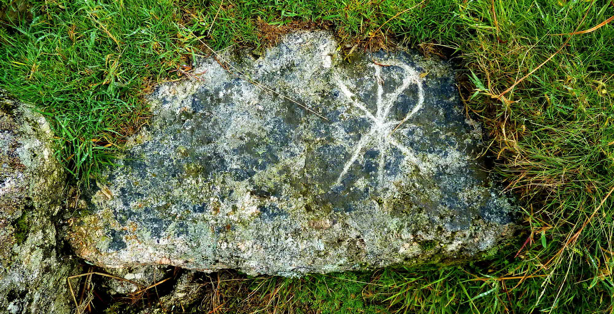 The Chi-Rho stone, an ancient symbol of Christianity.