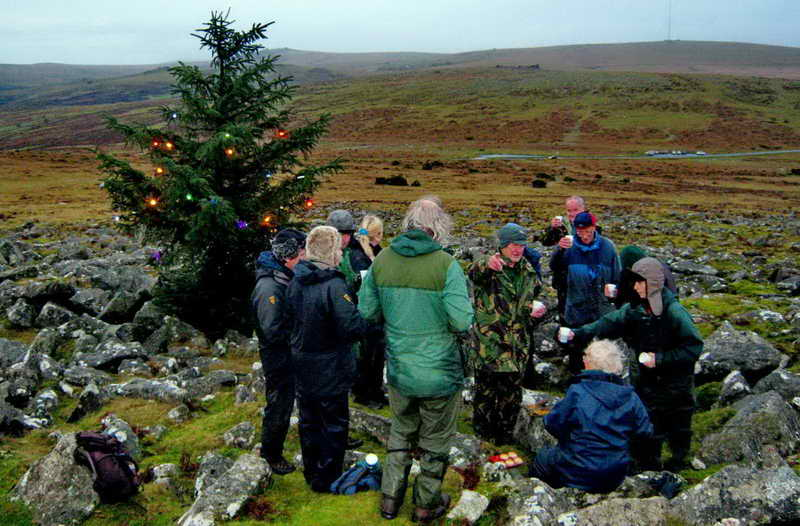 Mulled wine wishing you a Merry Christmas from the DPA Christmas tree on the moor.