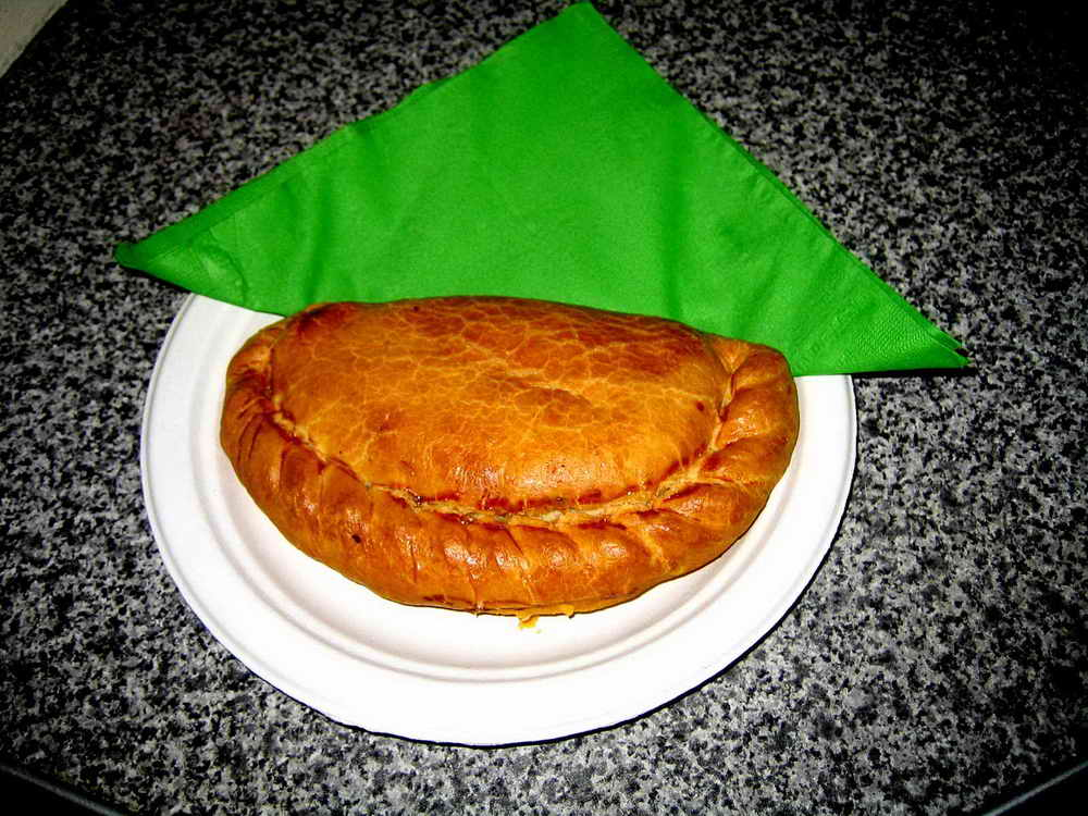 A plate-sized pasty.