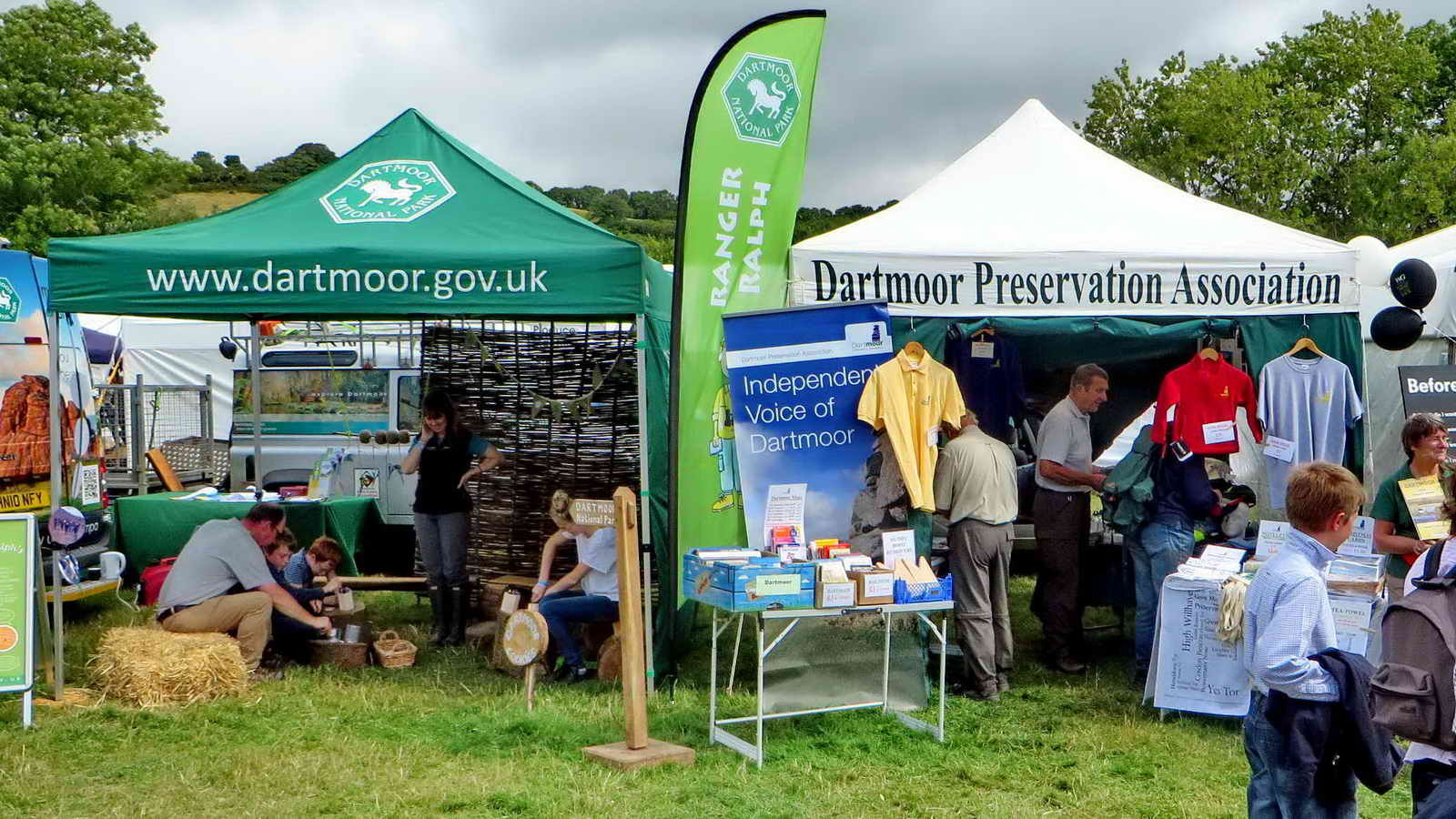 IMG_7418 Dartmoor National Park and Dartmoor Preservation Association stands neighbouring.