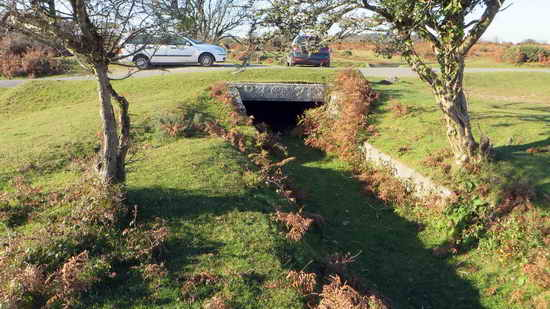 The starting point - the bridge on Roborough Down Lane.