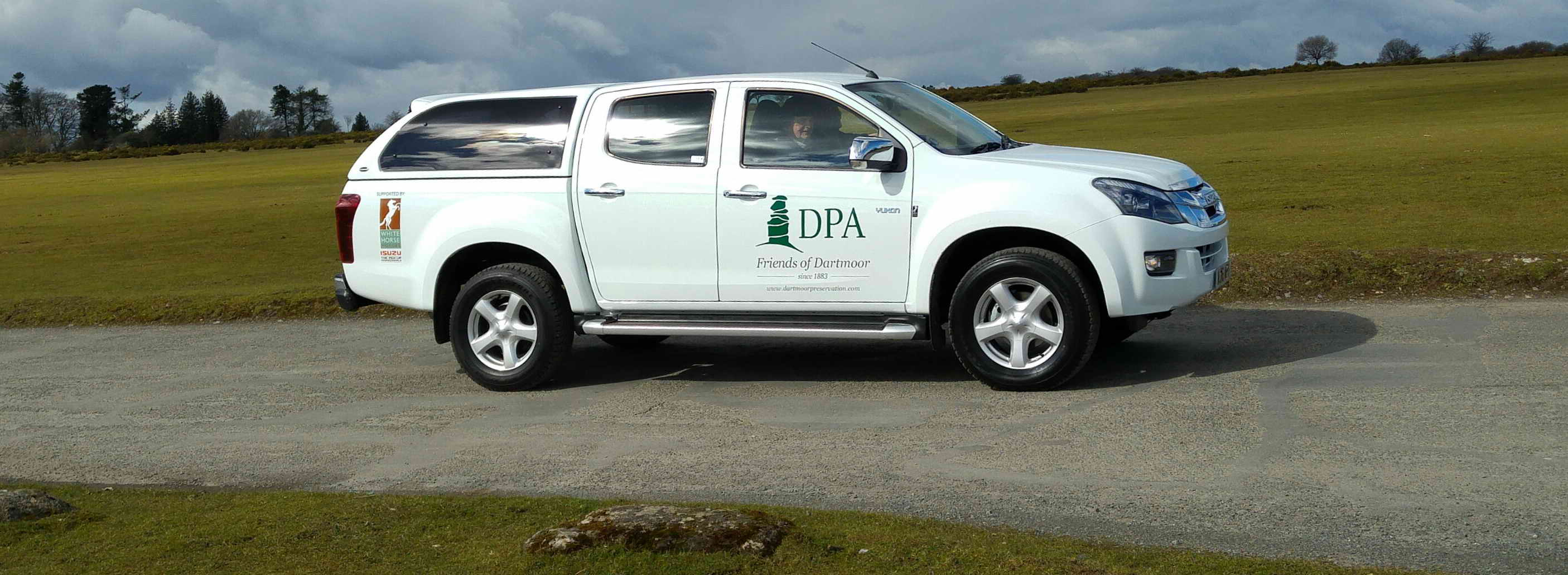 The DPA vehicle on Roborough Down.
