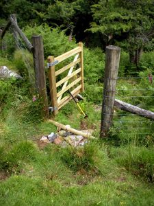 The finished gate.
