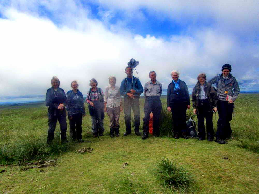 The group by the trig point on Ryder's Hill.