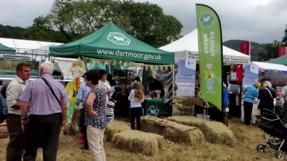 Dartmoor National Park stand.