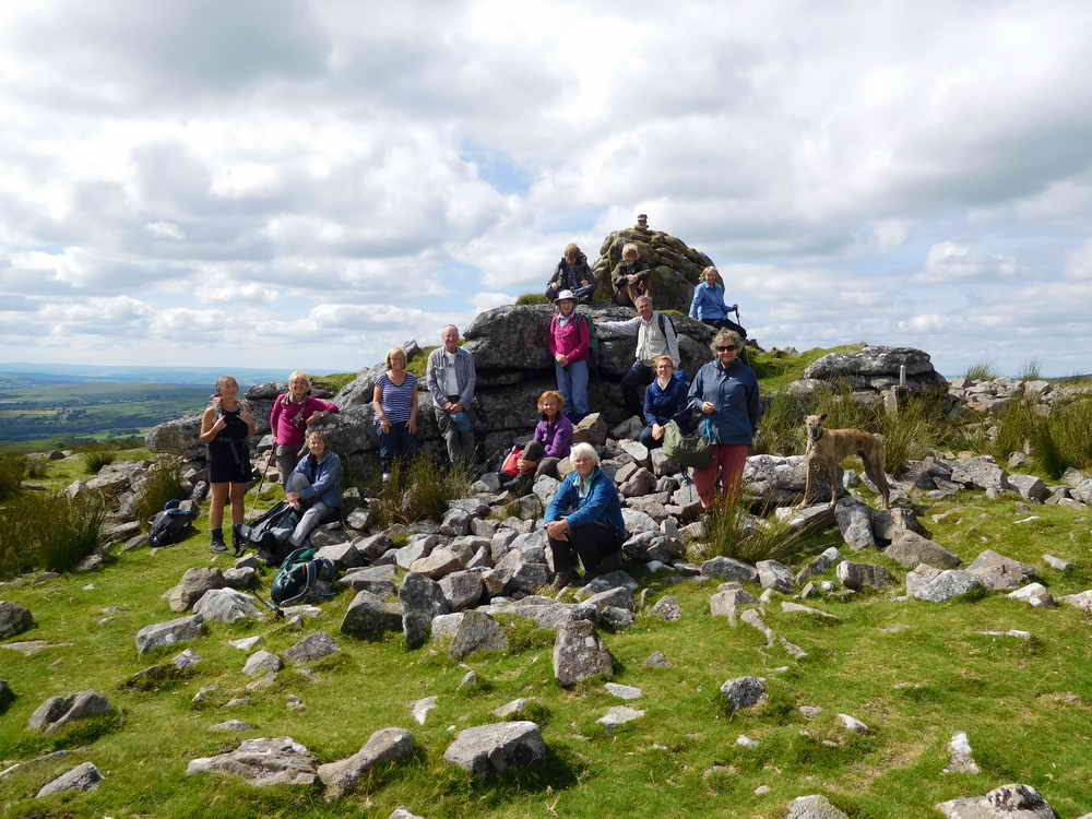 The DPA Perambulation, Leg 6 - Lunch at Limsboro Cairn.