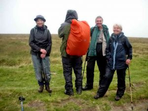 The four people who did the entire Perambulation. Photo: Hilary Marshall