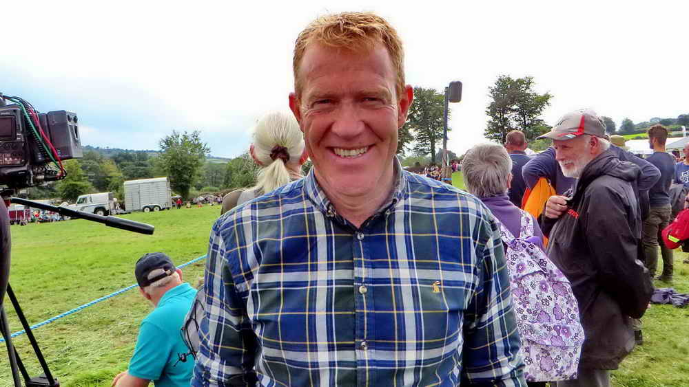 Adam Henson, outside the DPA stand.
