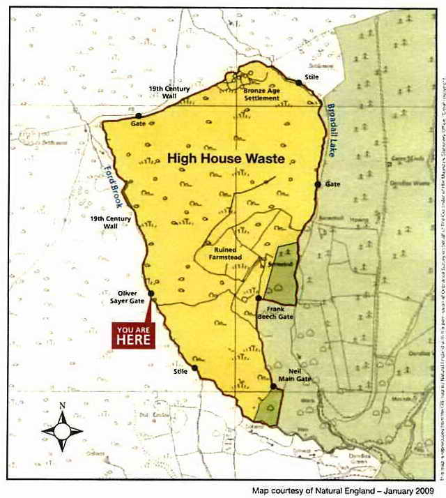 Map of High House Waste.