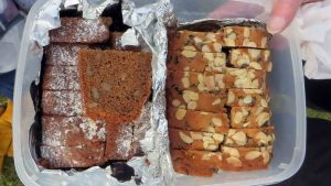 Fruit and Coffee & Walnut cakes