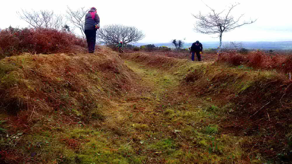 A tidied section of leat. Photo: Rachel Watson