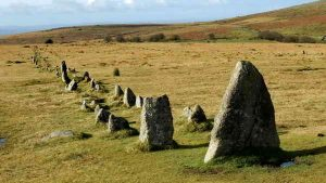 Southern double stone row at Merrivale