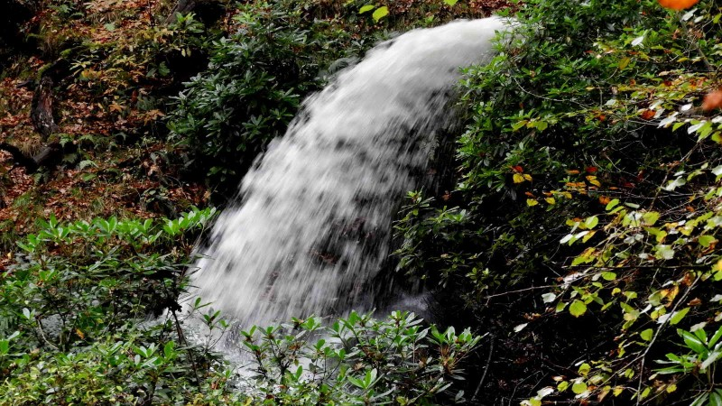 Burrator waterfall, that comes from Devonport Leat.