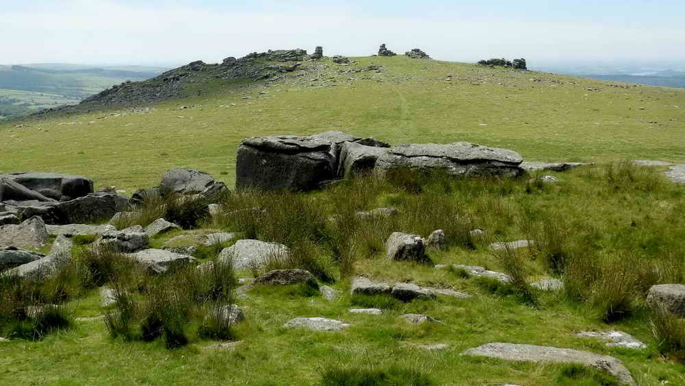 Looking back at Great Staple Tor from Roos Tor