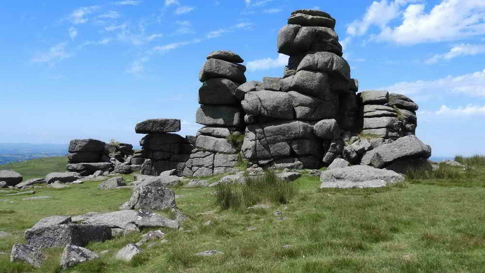 Rock piles at Great Staple Tor