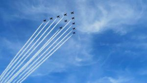 Red Arrows - here they come .....