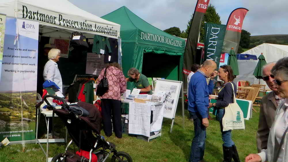 The DPA gazebo alongside the Dartmoor Magazine stand