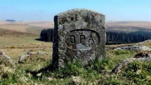 DPA boundary stone at SX 56145 70465