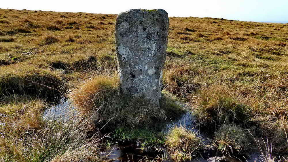 Old prison boundary stone