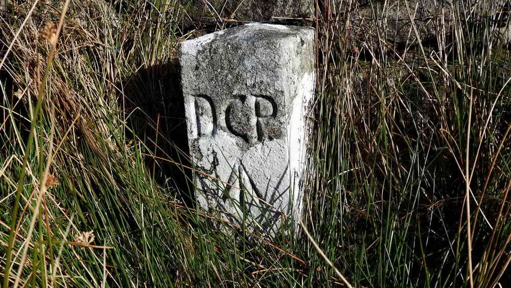 """New"" prison boundary stone"