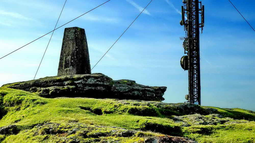North Hessary Tor & TV mast - old and modern