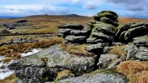 "Over Tor rocks with ""Mrs Bray's Washhand Basin"""