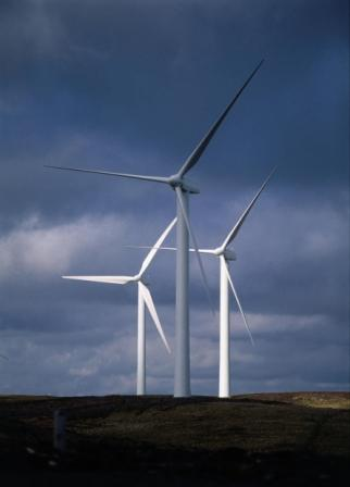 Turbines on open moorland