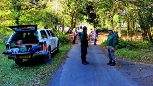 DPA Conservation volunteers arriving in the morning.