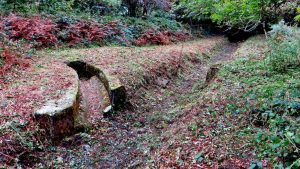 The drain from RAF Harrowbeer, after clearing.