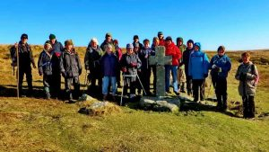 The group at Crazywell Cross.