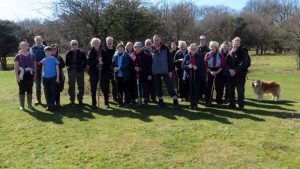 Twenty-two walkers on the third DPA Short Walk, 25th March 2017
