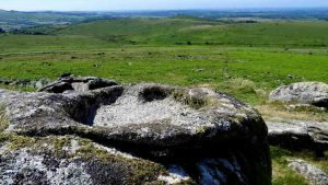 Rock pan on Little Staple Tor