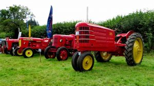There are always old tractors on display