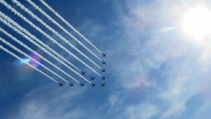 Red Arrows, there they go .....