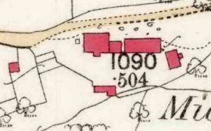 Middleworth, 1886 OS map