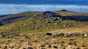 Down Tor, Leather Tor, Sharpitor and Peak Hill.
