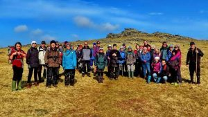 Group of 38 DPA members and friends (minus the photographer) below Great Mis Tor