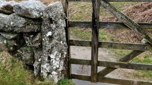 Slotted gatepost