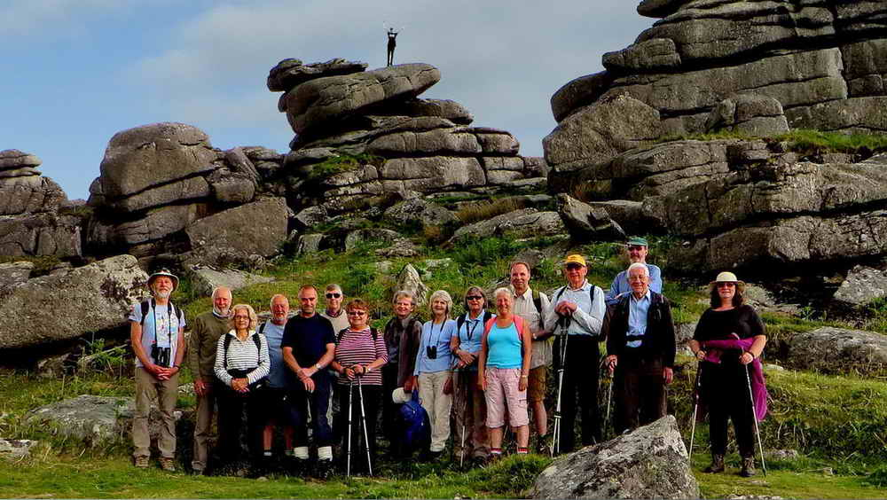 Walking group at Pew Tor