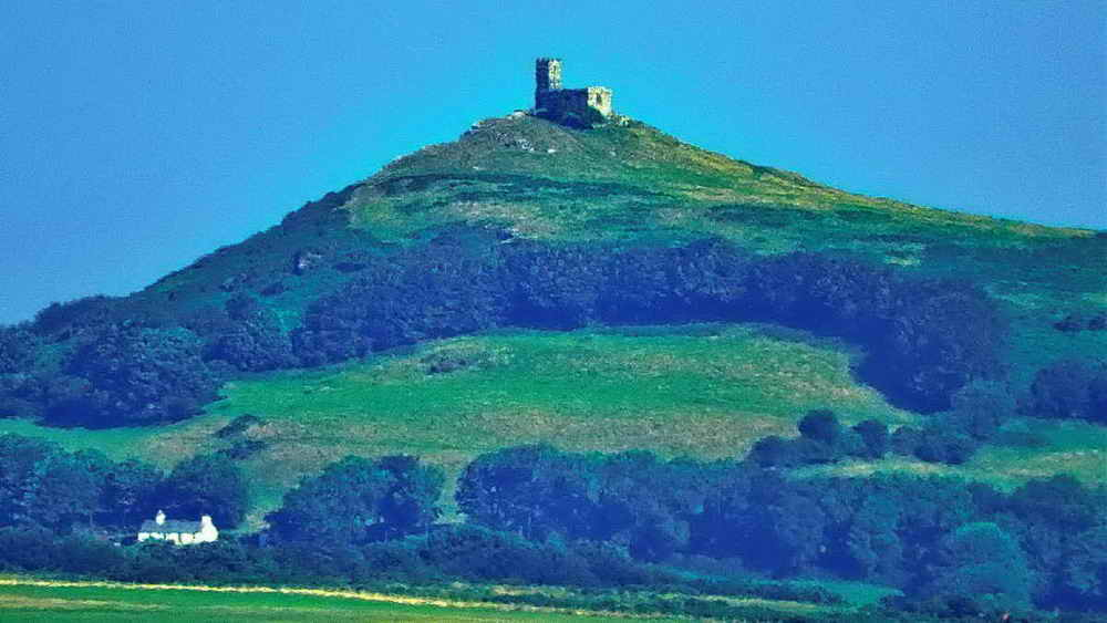 Zoomed view to Brentor and the Church of St Michael de Rupe