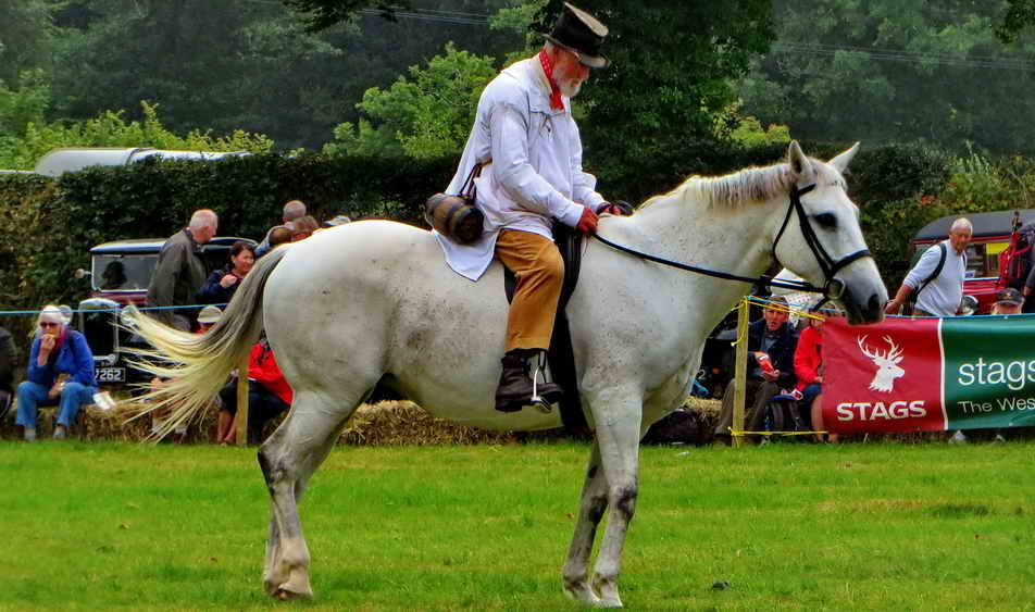 Tom Cobley (Tony Deeble) on the grey mare, Lilly