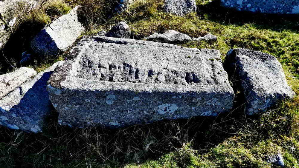 Abandoned granite trough on Doe Tor