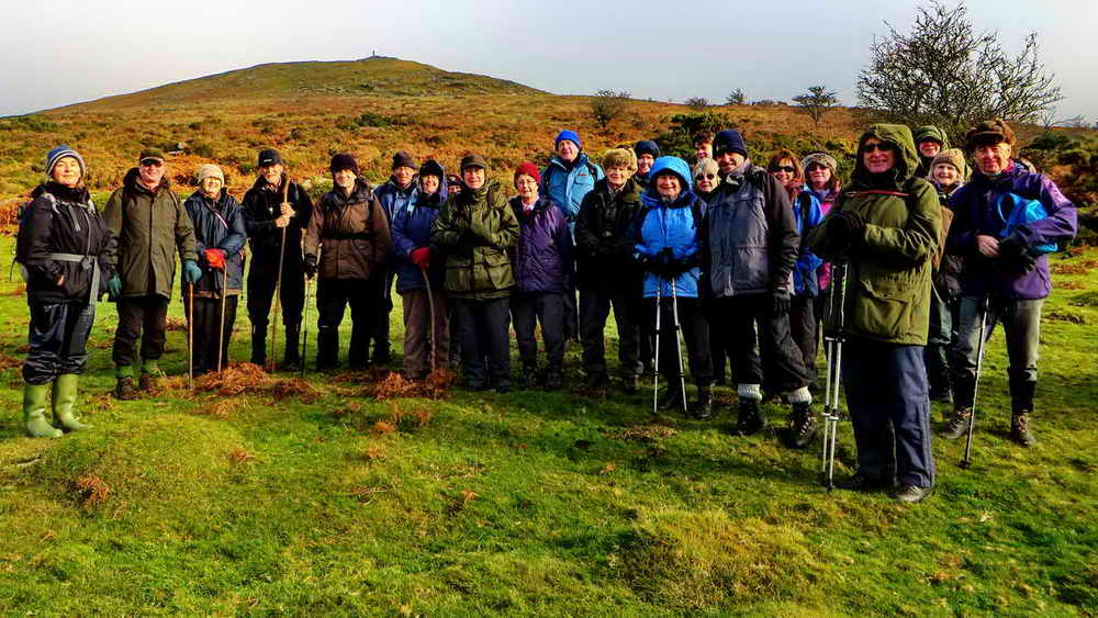The group on Lydford High Down, above the Wheal Mary Emma tin mine