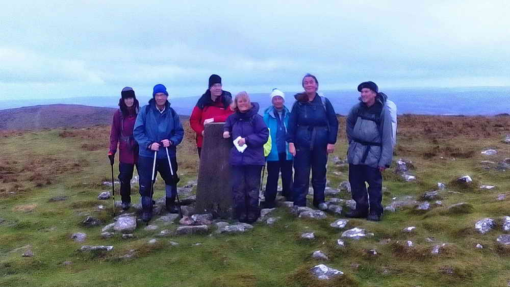 Group on top of Butterdon Hill.  Photo:  Val Barns