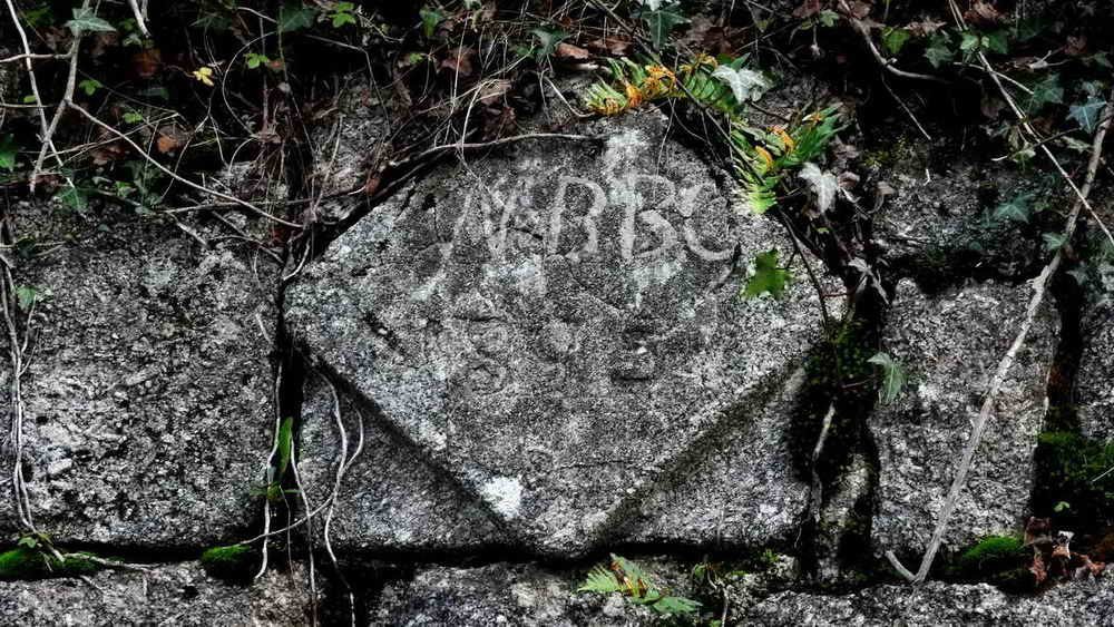 Date stone on the china clay sheds