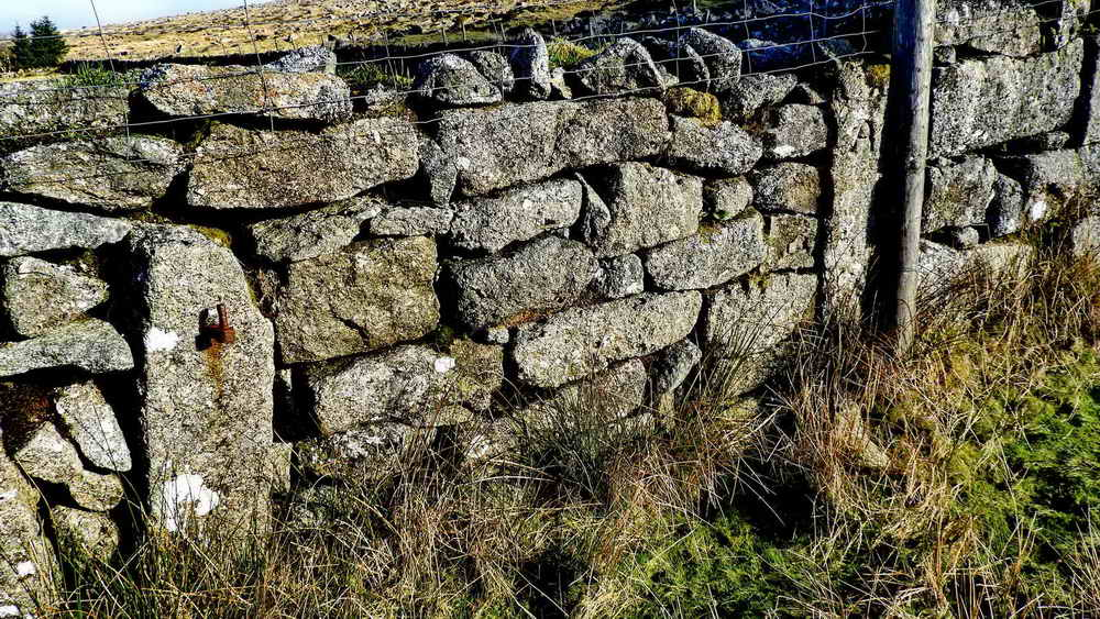 TA stone used as a gatepost in a blocked-up gateway