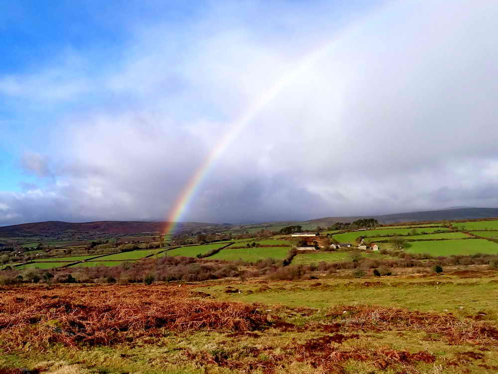 A rainbow over Buckland. Photo: Rachel Watson