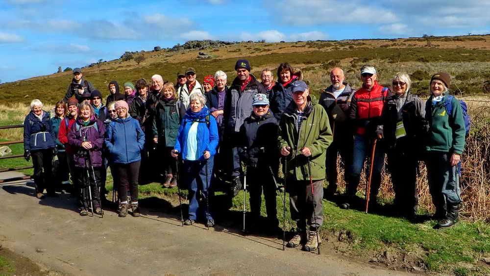 The DPA Short Walks group at Moyle's Gate